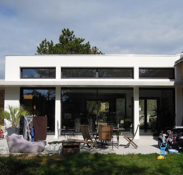 extension contemporaine d une long re christophe le. Black Bedroom Furniture Sets. Home Design Ideas